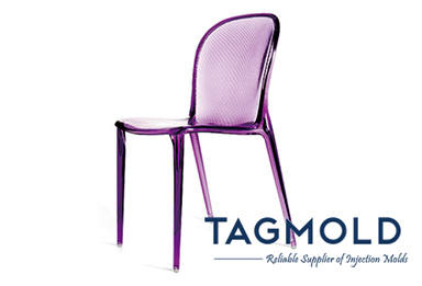Plastic chair purple sample
