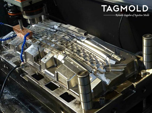 Car grille mould processing