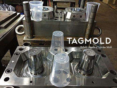 Disposable beverage cup injection mould 500ml 2 cavities