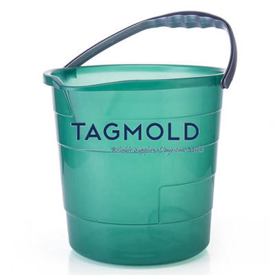 Plastic bucket sample green color