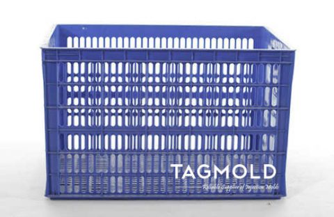 Plastic crate gray sample display