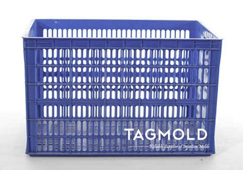 Plastic crate sample display