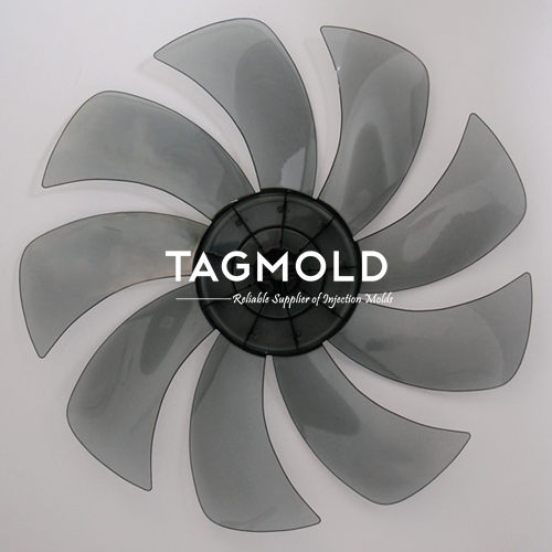 Plastic fan part sample gray