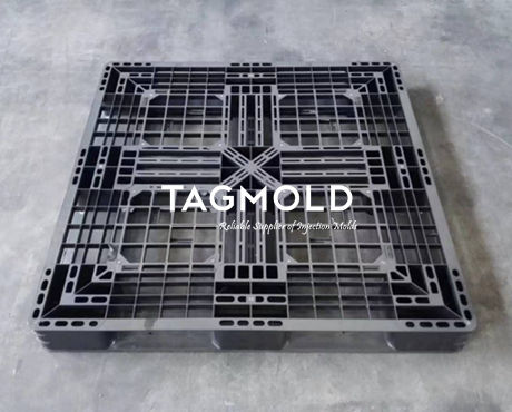 Plastic industry pallet sample black