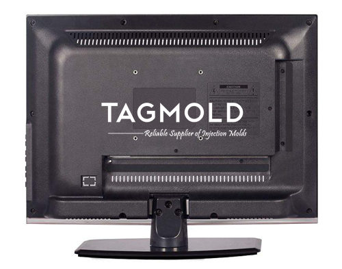 TV casing sample back display black