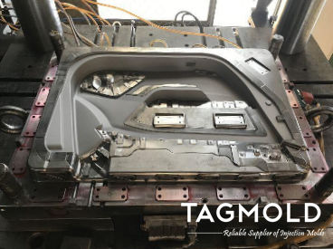 Automotive door plastic panel injection mold
