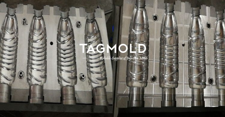 Blowing mould 4 cavities 1 pair 1.25L
