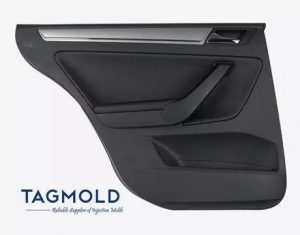 Car door trim panel sample black