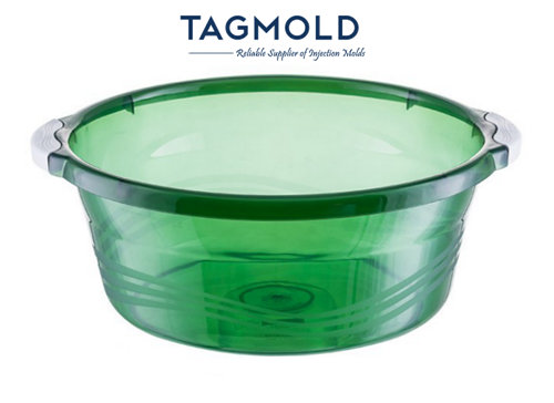 Plastic basin sample green