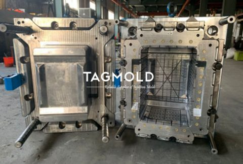 Plastic crate mould 1 pair