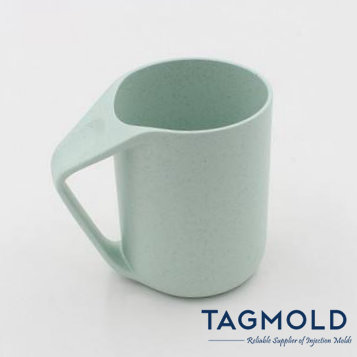 Plastic cup sample with handle green