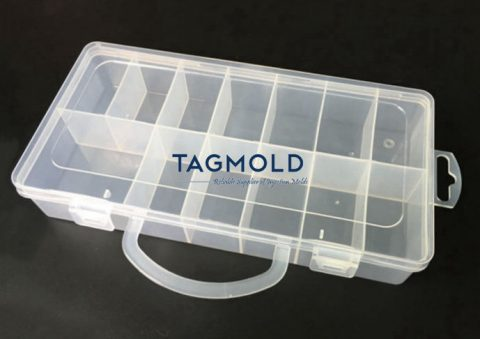 Plastic medicine box sample PP material transparent