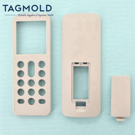 TV remote control housing samples 3 parts light gray